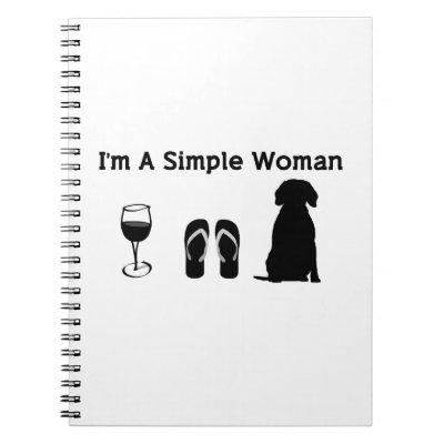 I'm A Simple Woman With Wine And Beagle Notebook