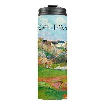 Impressionist Pastoral Painting by Gauguin Thermal Tumbler