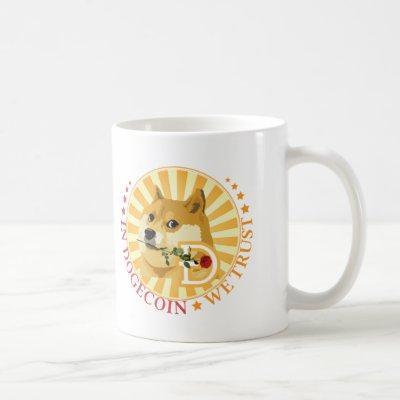 In Dogecoin We Trust Cryptocurrency Doge Meme Coffee Mug
