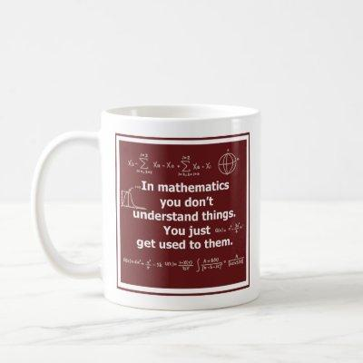 In mathematics you don't understand things science coffee mug