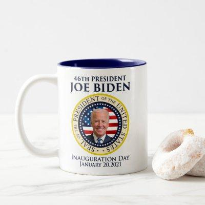 Inauguration day 2021 president Biden Two-Tone Coffee Mug