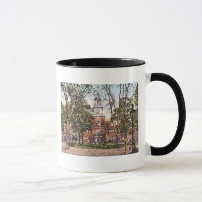 Independence Hall Philadelphia, PA 1900 Vintage Mug