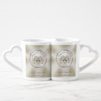 Inexpensive Anniversary Gifts by Year Lace, Pearl Coffee Mug Set