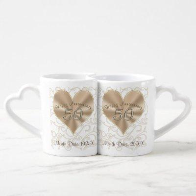 Inexpensive Gifts for 50th Anniversary Mugs Set