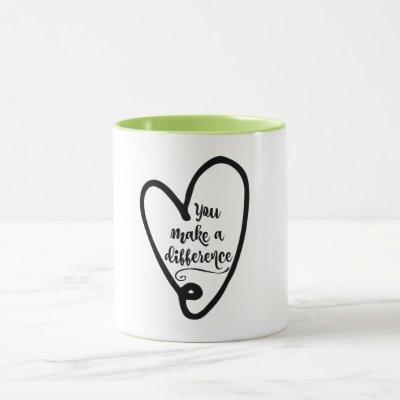 Inspiration: You Make a Difference Mug