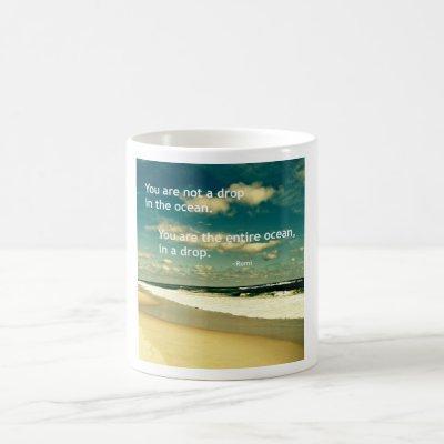 INSPIRATIONAL RUMI OCEAN QUOTE PHOTO MUG