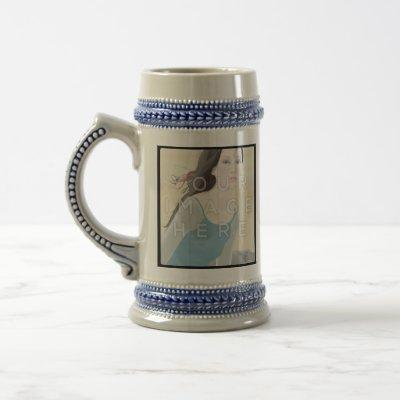 Instagram 2-Photo Custom Personal Stein Mug Design