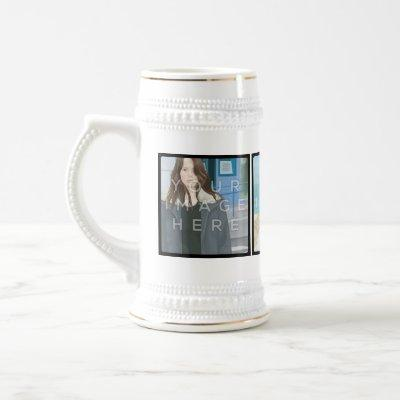 Instagram 3-Photo Customizable Stein Mug