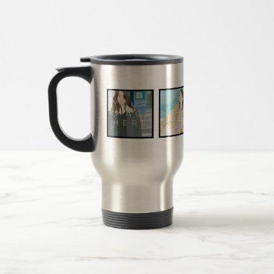 Instagram 4 Photo Custom Travel/Commuter Mug