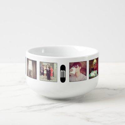 instagram monogram soup bowl