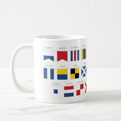 International Code of Signals Alphabet - Alpha Coffee Mug
