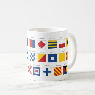International Code of Signals Alphabet Coffee Mug