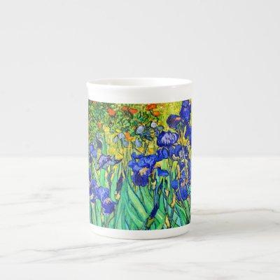 Irises by Vincent Van Gogh Bone China Mug