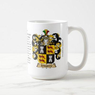 Irizarry, the Origin, the Meaning and the Crest Coffee Mug