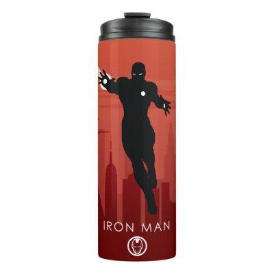 Iron Man Heroic Silhouette Thermal Tumbler