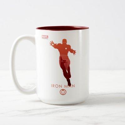 Iron Man Heroic Silhouette Two-Tone Coffee Mug