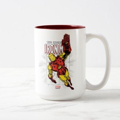 Iron Man Retro Comic Price Graphic Two-Tone Coffee Mug