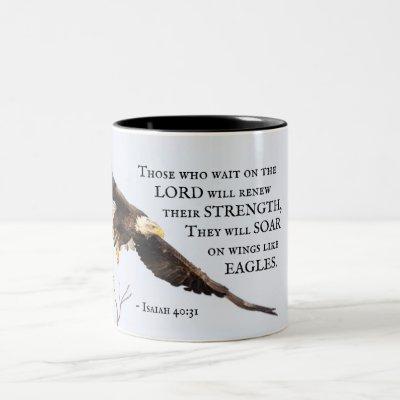 Isaiah 40:31 Those who wait on the Lord, Bible Two-Tone Coffee Mug