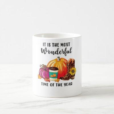 It's Fall Time Pumpkin Thanksgiving Coffee Mug