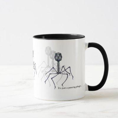 It's just a passing phage... Science mug