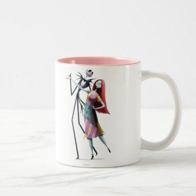Jack and Sally Dancing Two-Tone Coffee Mug