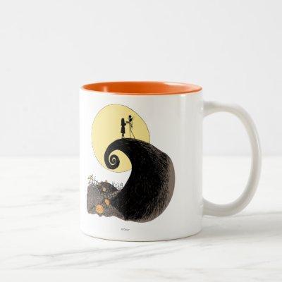 Jack and Sally | Moon Silhouette Two-Tone Coffee Mug