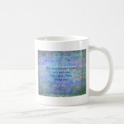 Jane Austen romantic quote Mr. Darcy Coffee Mug