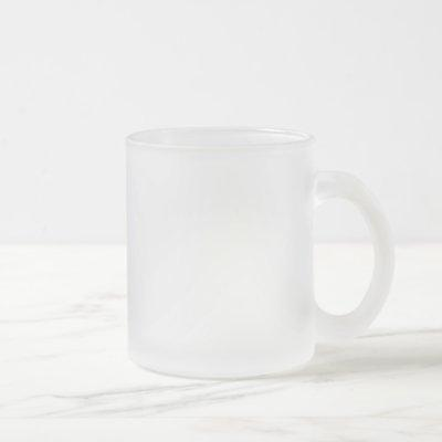 janeausten frosted glass coffee mug