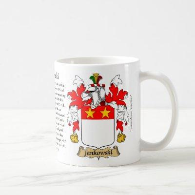 Jankowski, the Origin, the Meaning and the Crest Coffee Mug