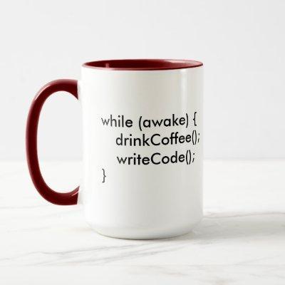 Java while (awake) Mug