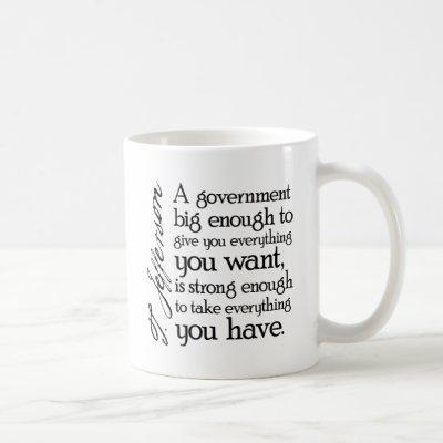 Jefferson: Beware of Big Government Coffee Mug