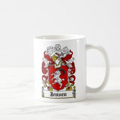 Jensen Family Crest Coffee Mug