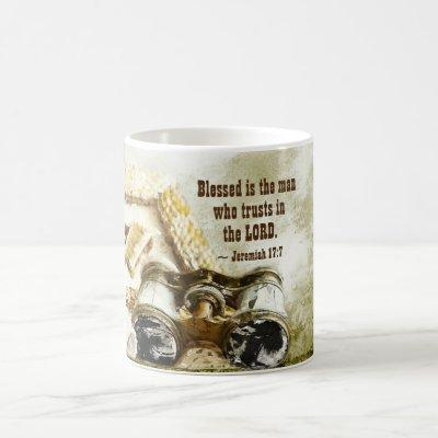 Jeremiah 17:7 Blessed the Man who Trusts the Lord Coffee Mug