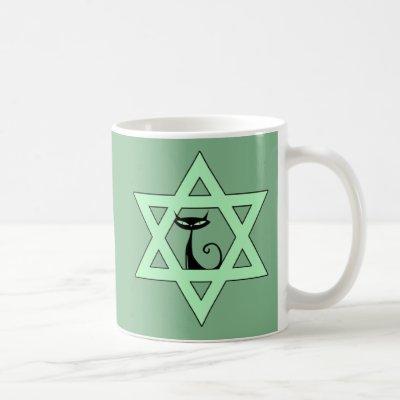 Jewish Kitty Cat Star of David Coffee Mug