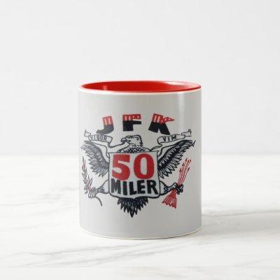 JFK 50 Miler Logo Two-Tone Coffee Mug