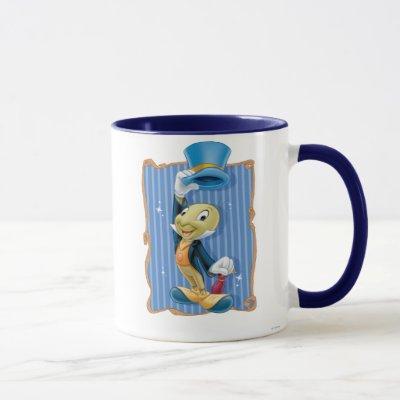Jiminy Cricket Lifting His Hat Mug