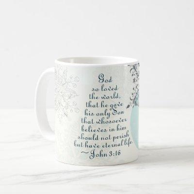 John 3:16 God so Loved the World, Vintage Design Coffee Mug