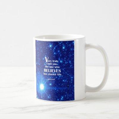 John 6:47 coffee mug