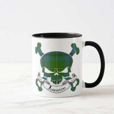 Johnston Tartan Skull Mug