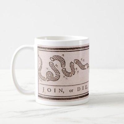 Join or Die Benjamin Franklin Political Cartoon Coffee Mug