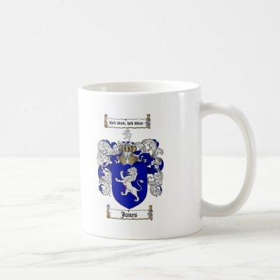 JONES FAMILY CREST -  JONES COAT OF ARMS COFFEE MUG