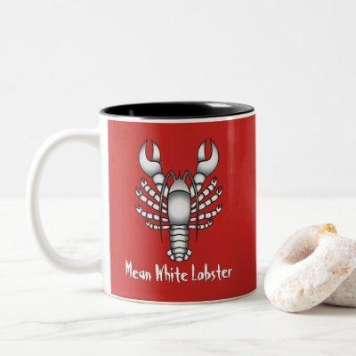 Jordan Peterson Mean White Lobster Man Meme Two-Tone Coffee Mug