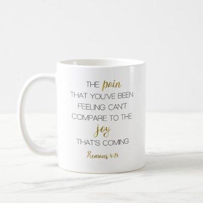 Joy That's Coming Romans 8:18 Coffee Mug