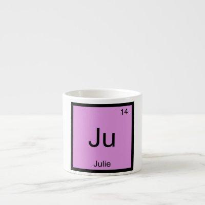 Julie  Name Chemistry Element Periodic Table Espresso Cup