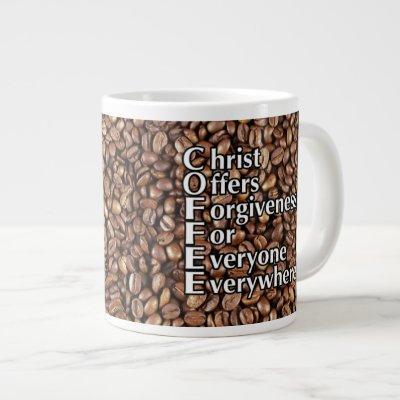 JUMBO 20 oz C.O.F.F.E.E. mug! Giant Coffee Mug