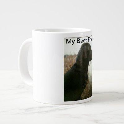 jumbo mug with a picture of a black lab &  phrase