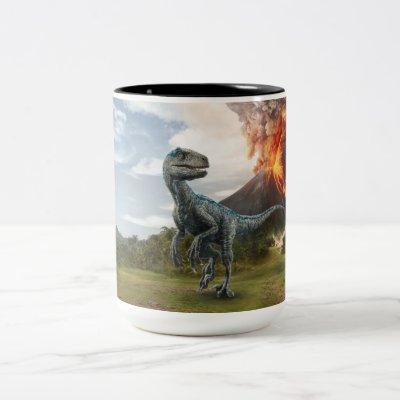 Jurassic World | Blue Two-Tone Coffee Mug