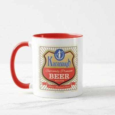 Justice Brett Kavanaugh Funny Vintage Beer Logo Mug