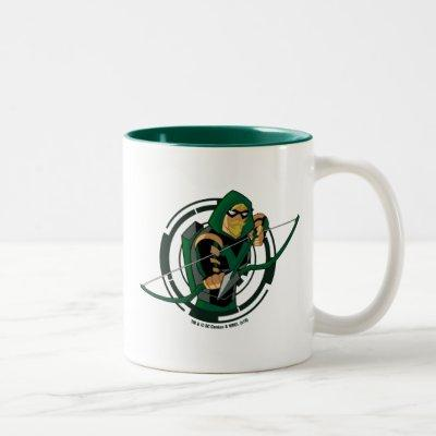 Justice League Action | Green Arrow Character Art Two-Tone Coffee Mug
