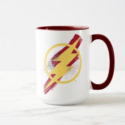 Justice League | Brush & Halftone Flash Symbol Mug